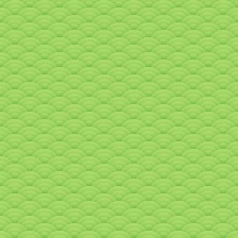 Motif de cercles sans soudure vert asiatique, ornement japonais - illustration