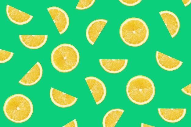 Motif coloré de tranches de citron