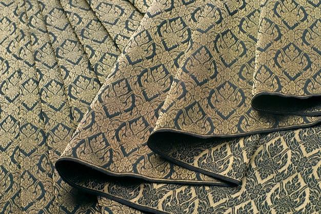 Motif et conception en soie thaïlandaise