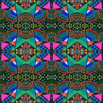 Motif de couleur aztèque. ornement ethnique. impression transparente. contexte de conception ethnique.