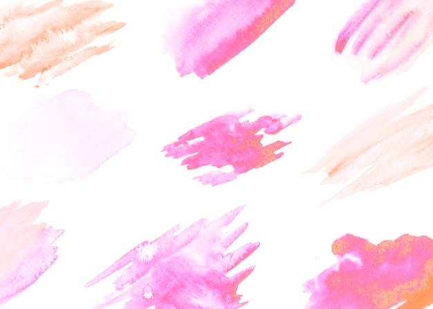 Motif de coup de pinceau isolé sur fond blanc