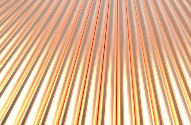 Motif de cylindre de cuivre. rendu 3d.