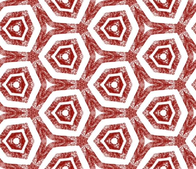 Motif dessiné à la main arabesque. fond de kaléidoscope symétrique rouge vin. impression exquise prête pour le textile, tissu de maillot de bain, papier peint, emballage. conception dessinée à la main arabesque orientale.
