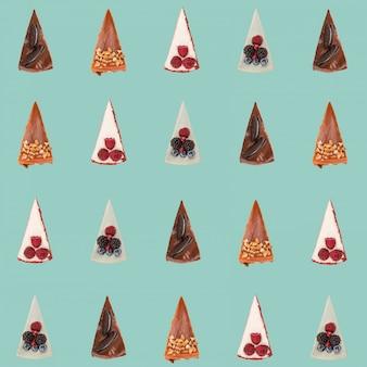 Motif de différentes tartes