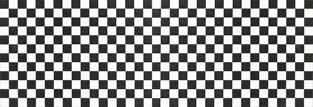 Motif d'échecs panoramique noir et blanc