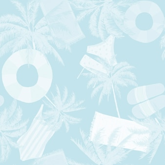 Motif d'été bleu à carreler sans couture