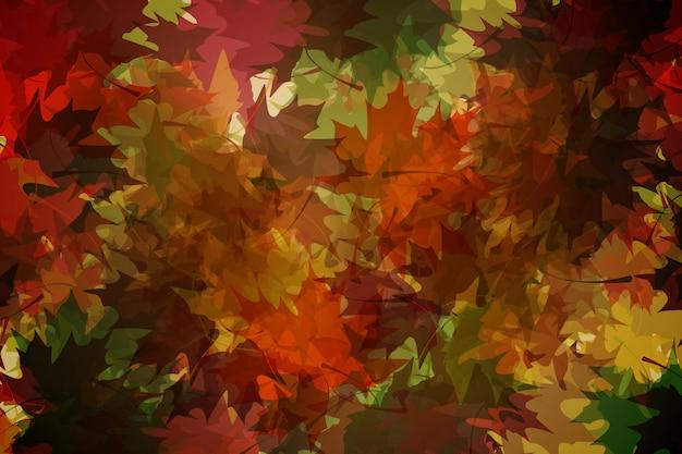Motif de feuilles automnales générées numériquement dans des tons chauds