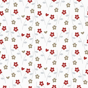Motif floral ditsy sans couture avec de jolies petites fleurs sur fond blanc