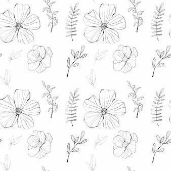 Motif floral graphique aquarelle