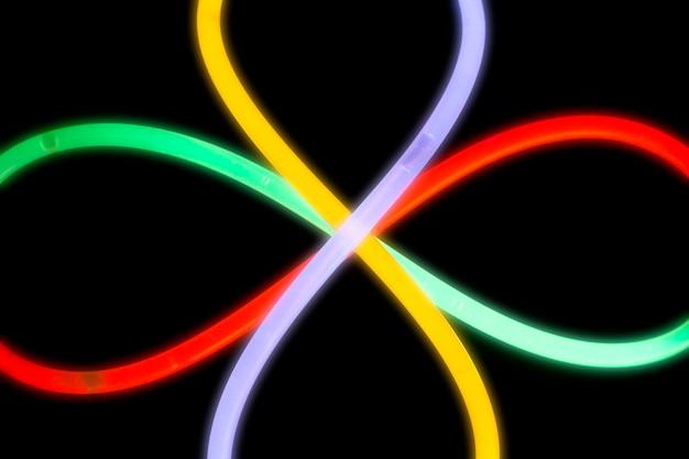 Motif floral de lumière fluorescente