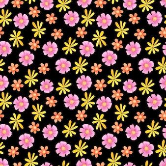Motif floral sans couture aquarelle. abstrait