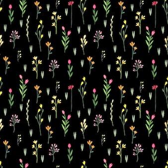 Motif floral sans couture aquarelle. fond abstrait de wilflowers