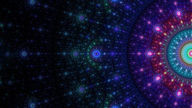 Motif de fond abstrait art fractal. belle illustration fractale pour la conception graphique créative