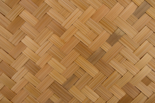 Motif de fond en bambou tressé