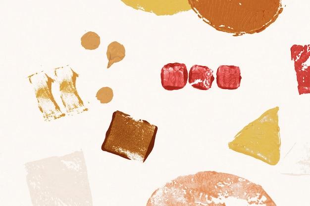Motif de fond estampé beige avec des impressions géométriques de blocs de bricolage
