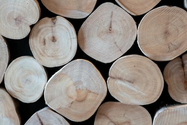 Motif de fond de journal en bois