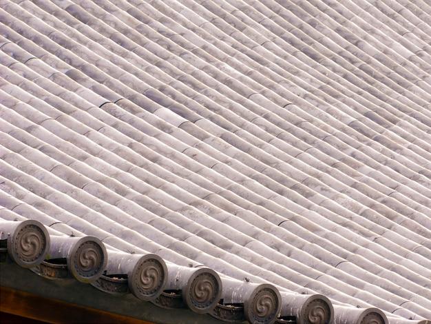 Motif de fond reproductible du toit du temple japonais, temple higashi honganji à kyoto, japon
