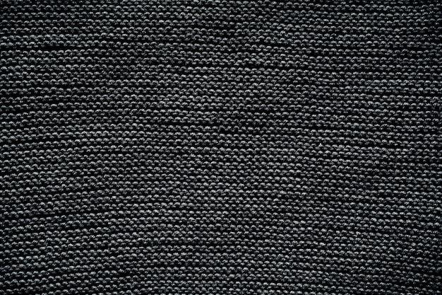 Motif de fond de texture de laine tricotée noire