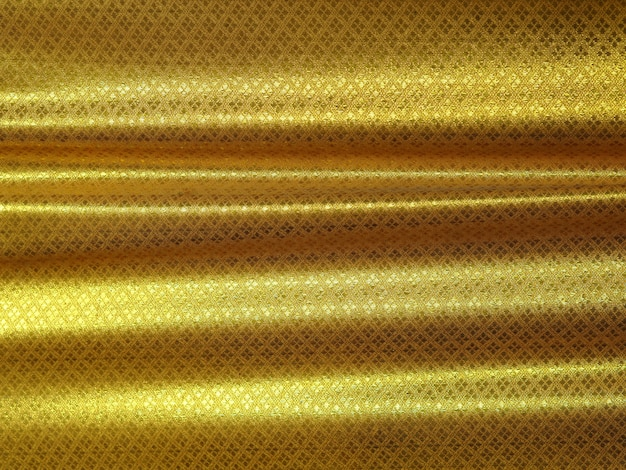 Motif de fond thaïlandais de luxe en tissu or