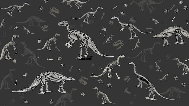 Motif fossile de dinosaure