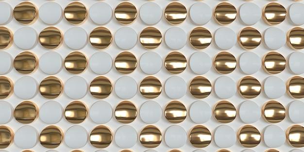 Motif géométrique blanc et or texture et tuile élégantes pour votre conception