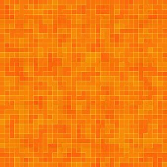 Motif géométrique coloré abstrait, fond de texture de mosaïque de grès orange, jaune et rouge, fond de mur de style moderne.