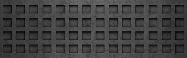 Motif de grille noire