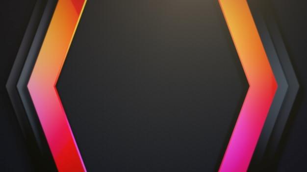 Motif hexagonal coloré, abstrait. style dynamique élégant et luxueux pour les entreprises, illustration 3d