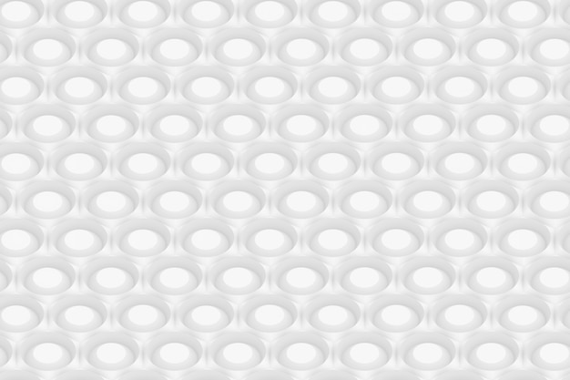 Motif d'hexagones et de cercles basé sur une grille hexagonale