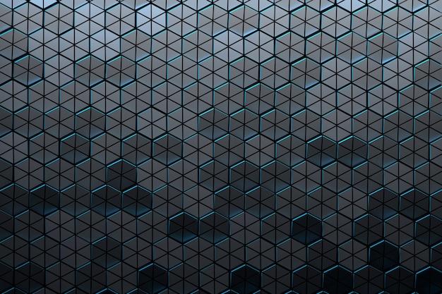 Motif avec hexagones structurés sombres
