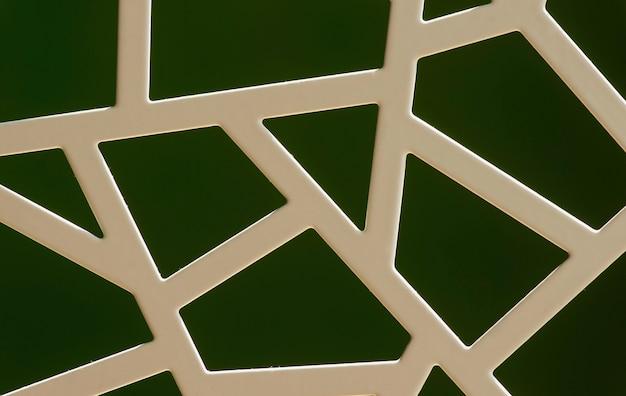 Motif irrégulier de fenêtres en métal blanc, pour le fond.