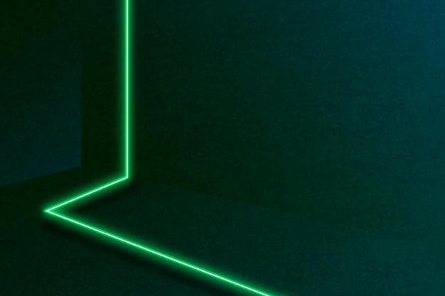 Motif de ligne vert néon sur fond sombre
