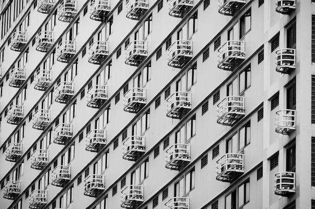 Motif de lignes d'architecture géométrique