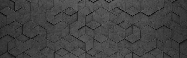 Motif losange noir et hexagones