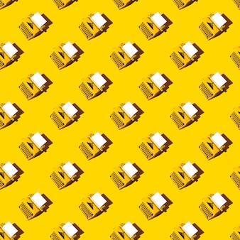 Motif de machine à écrire lumineux jaune