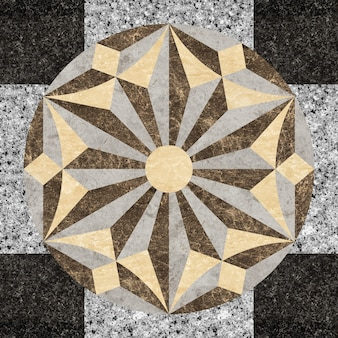 Motif de marbre et de granit en pierre naturelle.