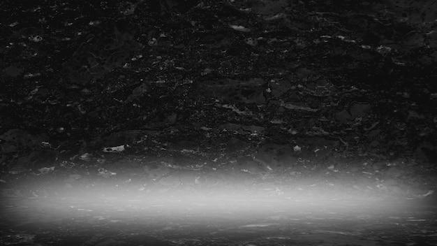 Motif naturel en marbre noir pour le fond abstrait noir et blanc