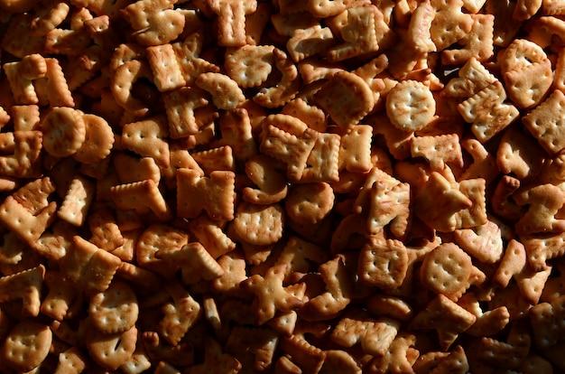 Motif de nombreuses lettres de biscuits