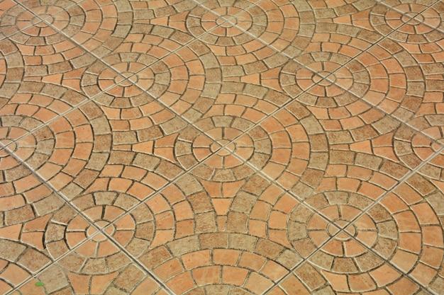 Motif de pavés, fond de plancher de brique en céramique