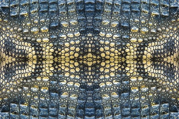 Motif de peau de crocodile