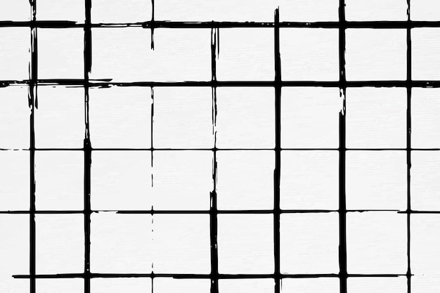 Motif de pinceau d'encre de fond de grille