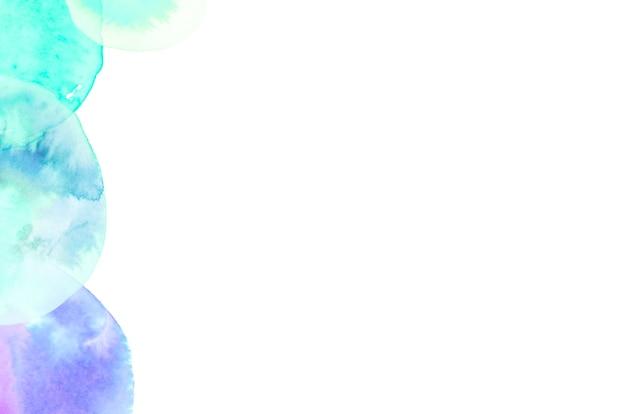 Motif pinceau turquoise et bleu sur fond blanc