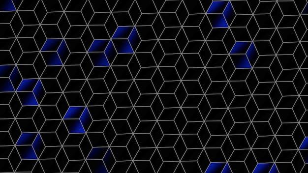 Motif de pixels colorés, abstrait. style géométrique dynamique élégant et luxueux pour les entreprises, illustration 3d