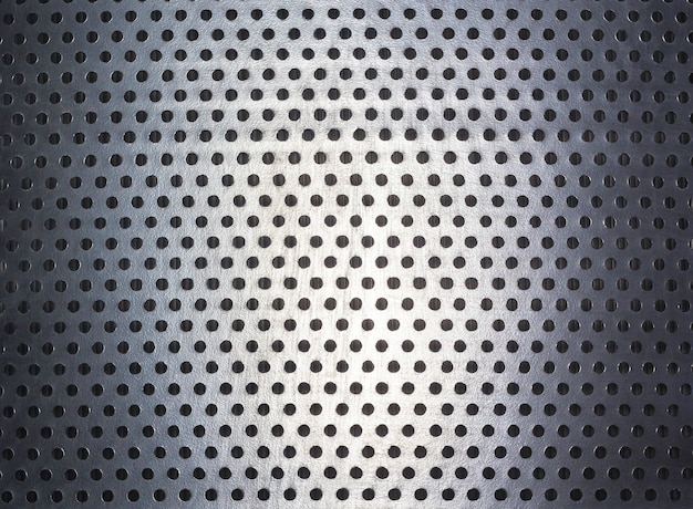 Motif à pois et texture sur acier