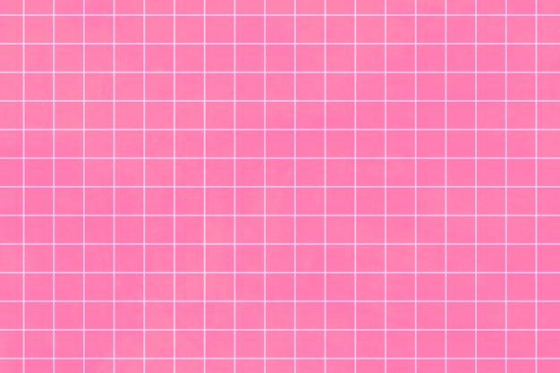 Motif quadrillé blanc sur fond rose chewing-gum