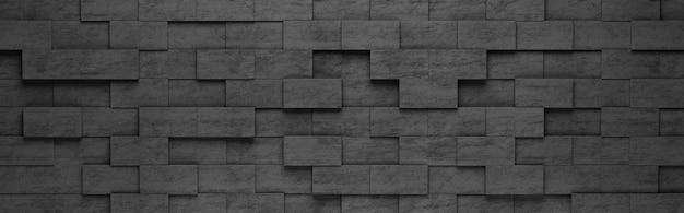 Motif de rectangles noirs