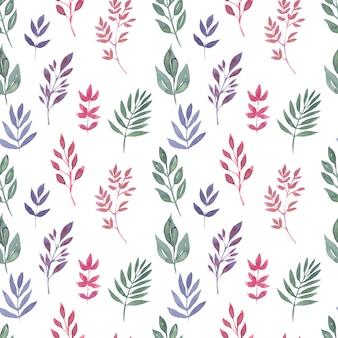 Motif sans couture aquarelle motifs floraux
