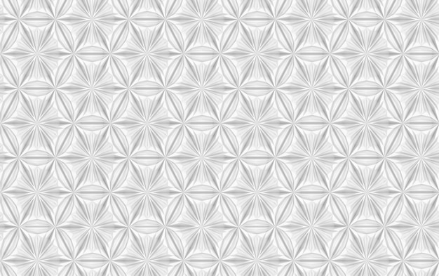 Motif sans soudure géométrique argent
