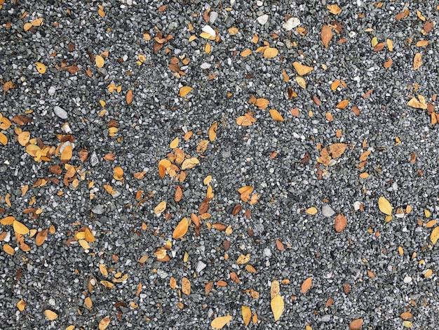 Motif de texture de galets, gravier et petites pierres dans un chemin de promenade pour la décoration intérieure de jardin