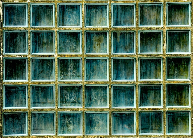 Motif de texture de mur de bloc de verre et fond